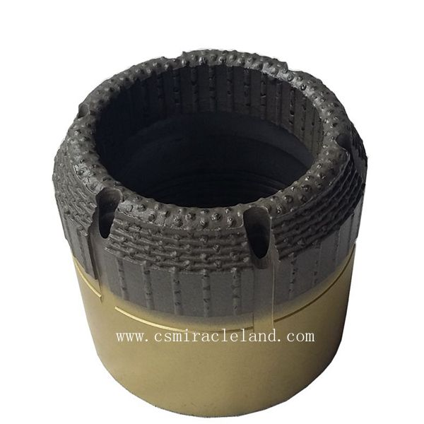 Surface set diamond core bit